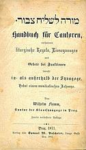 Moreh L'Shaliach Tzibur. Prague, 1877. Music Notes