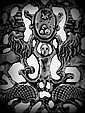 Chanuka Menorah. Miniature. Human and Animal Figures. Silver. Nurnberg?. 17 Century