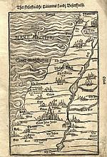 Map of the Holy Land. Stockholm, 1595. Heinrich Bunting