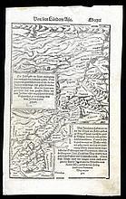Map of Israel. SABASTIAN MUNSTAR. Basle, C. 1550