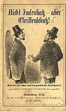 Nicht Judenhatz – aber Christenschutz. Germany, 1875. Typical Anti-Semitic Caricature on the Title Page