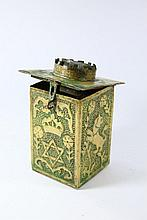 Copper Charity Box, Persia? Beginning of the 20th Century.