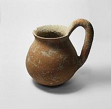 Pottery jug with high handle. EB I ca. 3000 BCE
