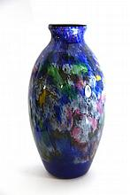 Glass vase from Muller Freres Luneville. Stamped. France, End of the 19th - Beginning of the 20th Century.