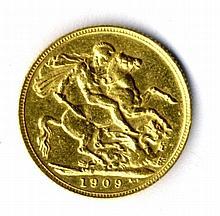 Sovereign Gold Coin 1909