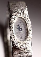 Piaget Woman's Watch. White Gold. 18K. Set with Small Diamonds.