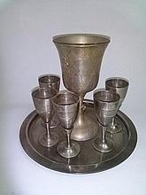 Cup of Elijah, small cups and a Havdala Set and Plate of the Riva