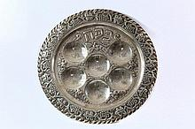 Silver Tray for the Seder Night. [Germany? Beginning of the 20th Century].