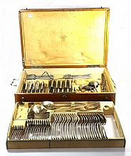 Set of Silver Silverware in a Case. Austro-Hungary, 19th Century