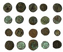 A lot of 41 mixed Byzantine Bronze coins ca. 5th-6th centuries