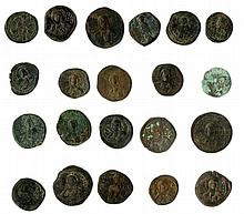 A lot of twenty one coins, Anonymous and Late byzantine Folles