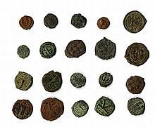 A lot of twenty Byzantine Bronzes, ca. 6th century