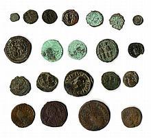 A lot of twenty one Late Byzantine Bronze coins