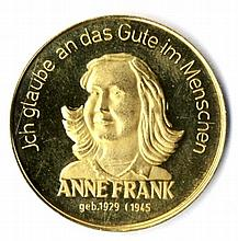 Anne Frank. Gold. Unknown Year.