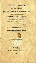 Ferdinando Jabalot, Degli Ebrai Nel Suo Rapporto Colle Nazioni Cristiane, Rome 1825