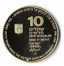 Yad L'Lochamim HaYehudim. Gold, Proof. 1995.