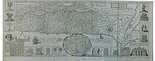 Map of the Holy Land in its Tribal Divisions. Tirinus Jacobus. Venice, 1786?