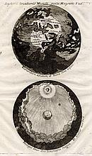 Map of the World and its Creation. Augustine Calmet. 1747