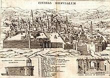 Map of Jerusalem – Holy Temple. Amsterdam, 1715