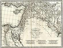Map of the Near East. D'Anville Jean Baptist Bourguignon. 1760