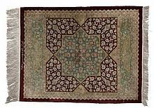 Silk, Persian Carpet. 20th Century.