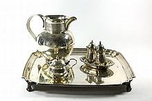 Silver Tray and Vessels. [6]. England and Germany, 19th-20th Century.