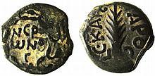 A bronze prutah of Porcius Festus, procurator of Judea under Nero