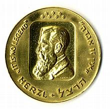 Gold Medal. Twentieth Anniversary of the State of Israel - Herzl - Ein Zu Aggada, Private Issue?