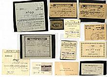 A Collection of Receipts of the KKL and Others. 1920's