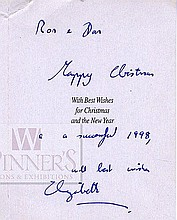 Postcard with Dedication Written by the Queen of England, 1998