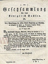 Government Document. Expansion of Jewish Land Ownership Rights. Kingdom of Saxony. [1828]