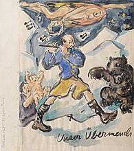 WALDO PEIRCE (American, 1884-1970) COVER FOR BOOK