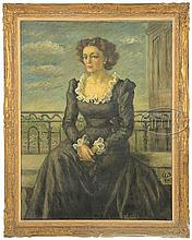 WALDO PEIRCE (American, 1884-1970) PORTRAIT OF IVY PEIRCE