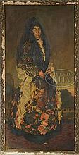 WALDO PEIRCE (American 1884-1970) IVY IN FANCY GYPSY COSTUME