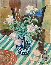 WALDO PEIRCE (American, 1884-1970) STILL LIFE OF FLOWERS