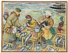WALDO PEIRCE (American, 1884-1970) COPENHAGEN FISH MARKET