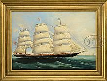 UNSIGNED (Liverpool School, 19th Century) PORTRAIT OF THE SHIP