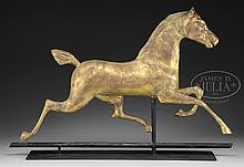 FULL BODY COPPER HACKNEY HORSE WEATHERVANE ATTRIBUTED TO WASHBURN.