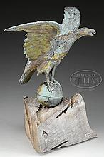 FULL BODIED MOLDED COPPER DISPLAY EAGLE WEATHERVANE.