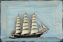 ANTIQUE SHIP DIORAMA OF THE SHIP