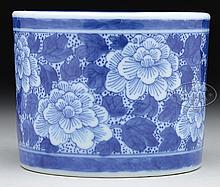 BLUE DECORATED PORCELAIN CENSER.