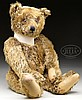 HANDSOME BROWN STEIFF 1920s ERA TEDDY BEAR WITH BUTTON.