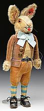 QUITE RARE AND EXCEPTIONALLY COLLECTIBLE STEIFF JACK RABBIT WITH BUTTON.