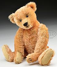 FINE AND EARLY STEIFF MOHAIR BEAR WITH BLANK BUTTON.