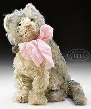 ADORABLE STEIFF FLUFFY CAT WITH MUSIC BOX FEATURE.