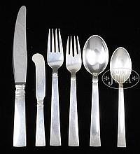 GEORG JENSEN STERLING SILVER FLATWARE SET.