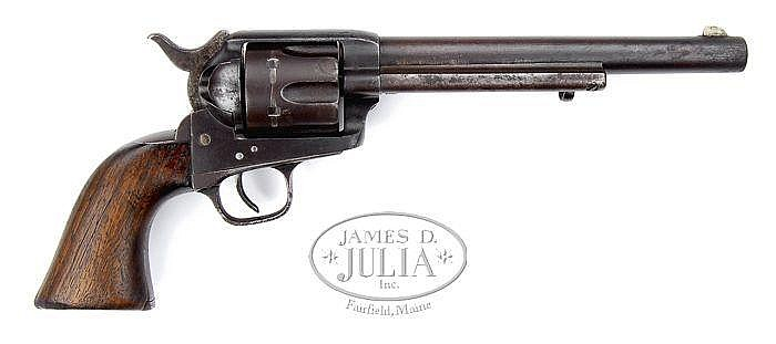 ULTRA-RARE COLT PINCH FRAME SINGLE ACTION ARMY REVOLVER.