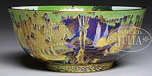 WEDGWOOD FAIRYLAND LUSTRE PICNIC BY A RIVER BOWL.