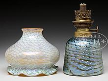 TWO PIECES OF ART GLASS.