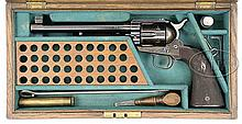 EXTREMELY RARE COLT FLAT TOP TARGET SINGLE ACTION ARMY REVOLVER WITH EXTENDED GRIP.